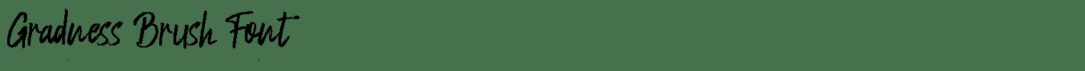 Gradness Brush Font