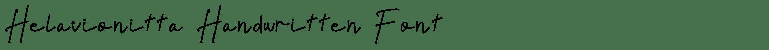Helavionitta Handwritten Font