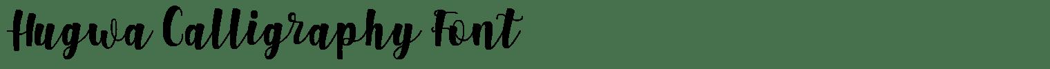 Hugwa Calligraphy Font