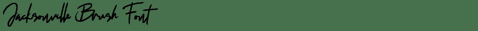Jacksonville Brush Font