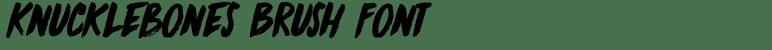 Knucklebones Brush Font