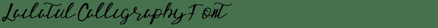 Lailatul Calligraphy Font