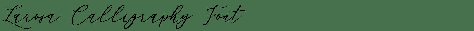 Larosa Calligraphy Font