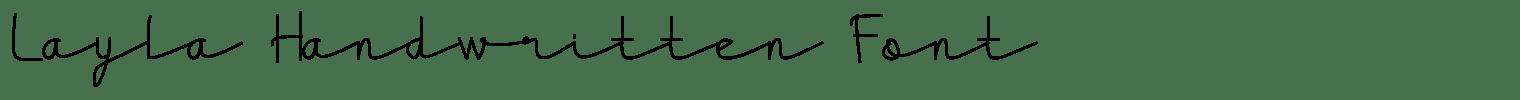 Layla Handwritten Font