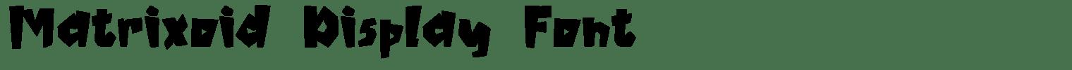 Matrixoid Display Font