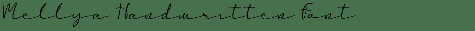Mellya Handwritten Font