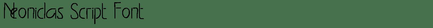 Neonidas Script Font