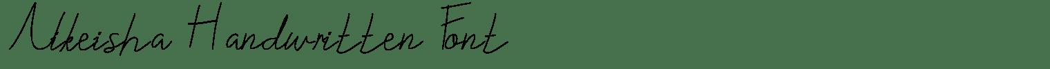 Nikeisha Handwritten Font