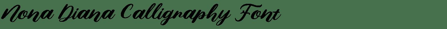 Nona Diana Calligraphy Font