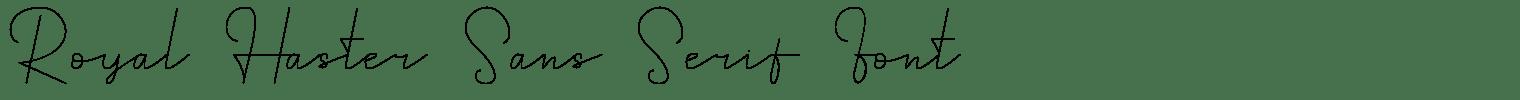 Royal Haster Sans Serif Font