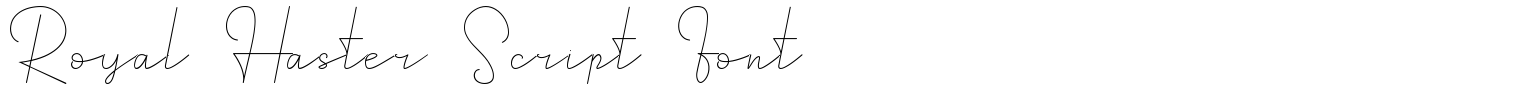 Royal Haster Script Font