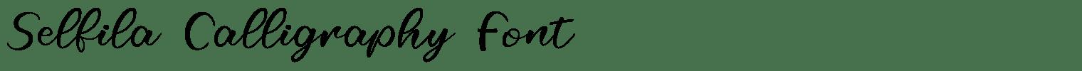 Selfila Calligraphy Font