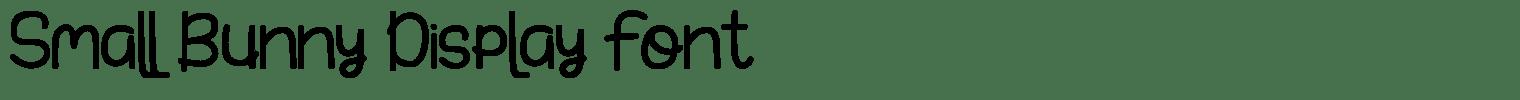 Small Bunny Display Font