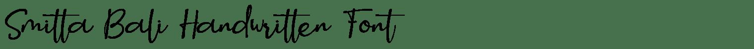Smitta Bali Handwritten Font