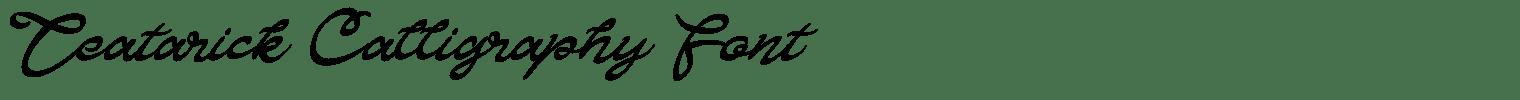 Teatarick Calligraphy Font