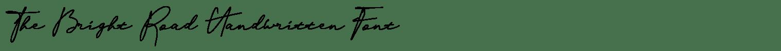 The Bright Road Handwritten Font