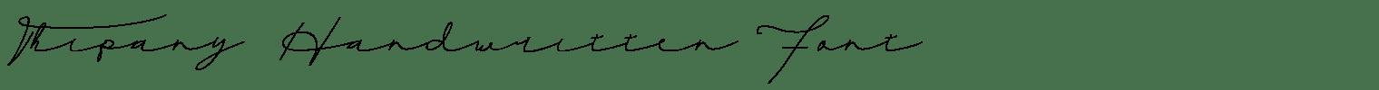 Thipany Handwritten Font