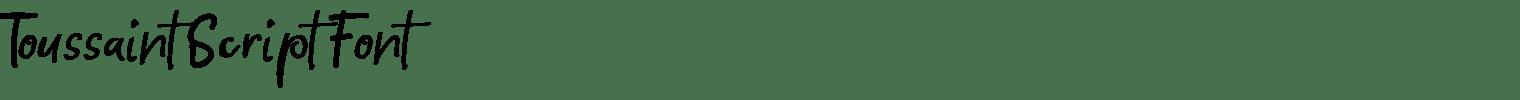 Toussaint Script Font