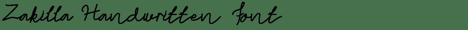 Zakilla Handwritten Font