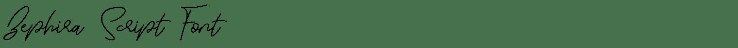 Zephira Script Font