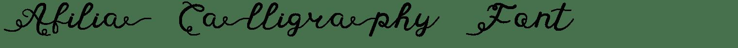 Afilia Calligraphy Font