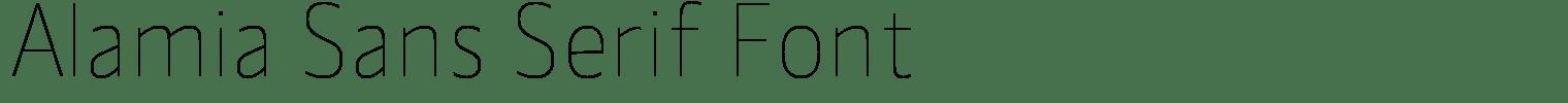 Alamia Sans Serif Font