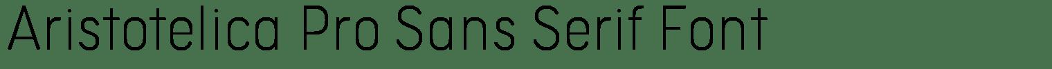 Aristotelica Pro Sans Serif Font