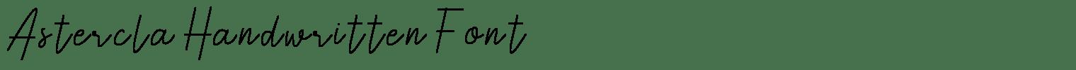 Astercla Handwritten Font