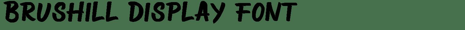 Brushill Display Font