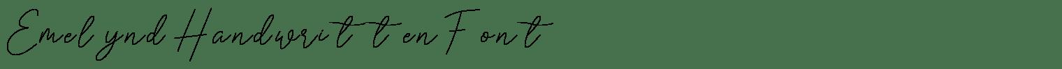 Emelynd Handwritten Font
