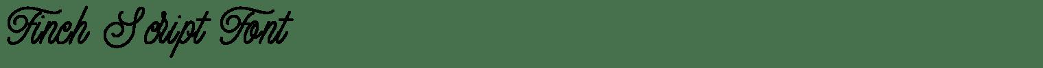 Finch Script Font