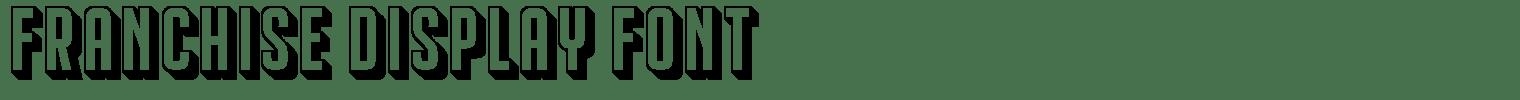 Franchise Display Font