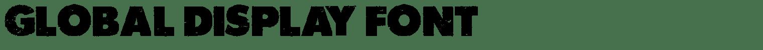 Global Display Font