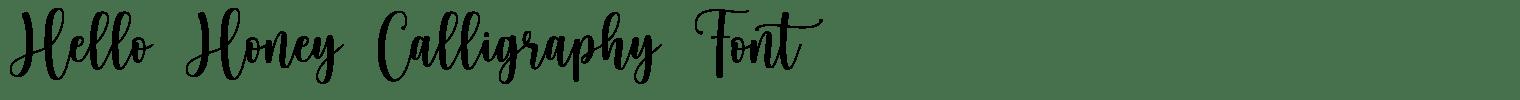Hello Honey Calligraphy Font