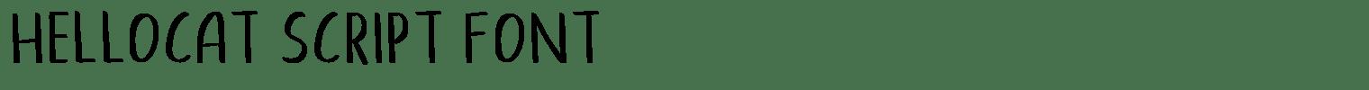 Hellocat Script Font
