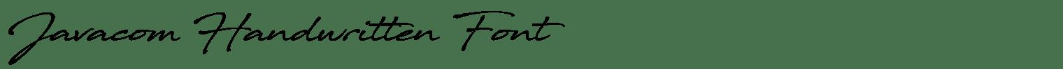 Javacom Handwritten Font