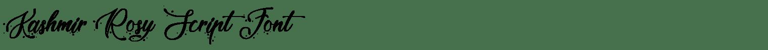 Kashmir Rosy Script Font