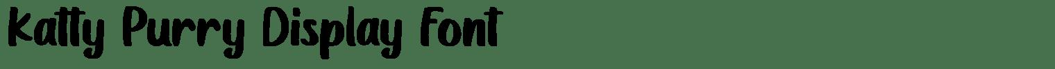 Katty Purry Display Font