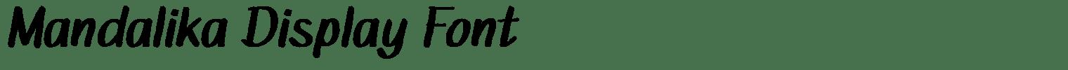 Mandalika Display Font