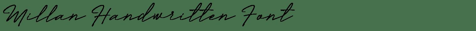 Millan Handwritten Font