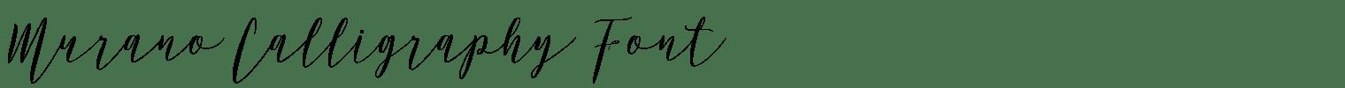Murano Calligraphy Font