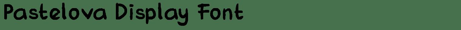 Pastelova Display Font