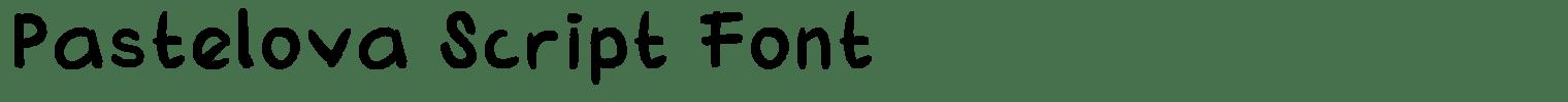 Pastelova Script Font