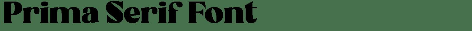 Prima Serif Font