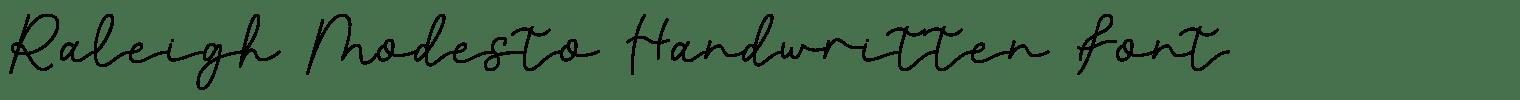 Raleigh Modesto Handwritten Font