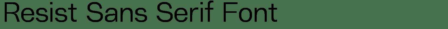 Resist Sans Serif Font