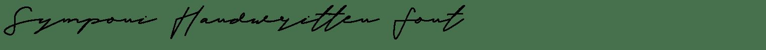 Symponi Handwritten Font