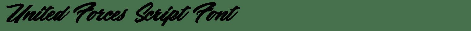 United Forces Script Font