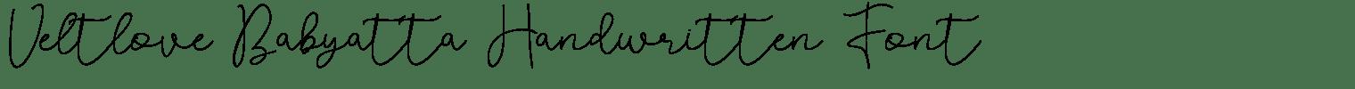 Veltlove Babyatta Handwritten Font