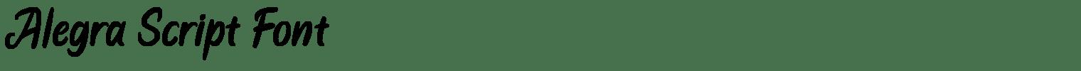 Alegra Script Font